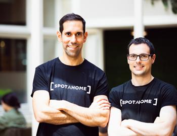 men wearing spotahome tshirt