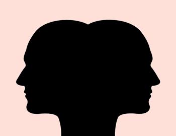 mirror silhouette graphic