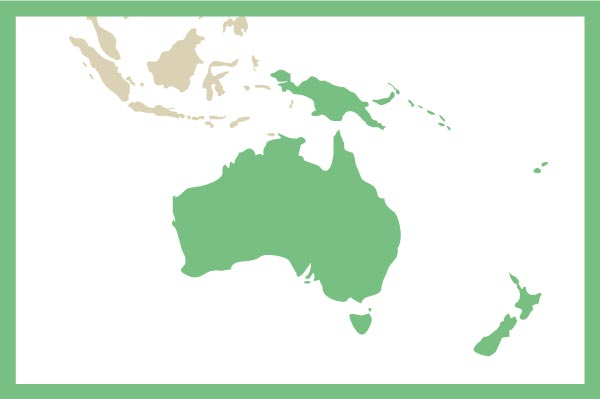 Australia and Pacific map